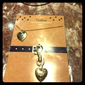 Heart Necklace / with matching dog charm